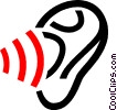 Vector Clip Art image  of a human ear/hearing