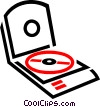 Vector Clipart graphic  of a CD player