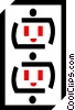 Vector Clipart graphic  of a wall sockets