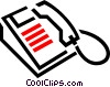 office phones Vector Clipart picture