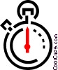 Vector Clipart image  of a stop watch