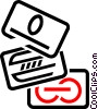 Vector Clip Art image  of a credit cards