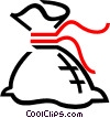 Vector Clipart graphic  of a money bag