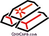 Vector Clip Art image  of a gold bars