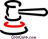 Vector Clipart image  of a gavel