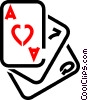 Vector Clipart image  of a cards
