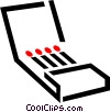 Vector Clipart graphic  of a matches