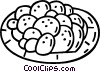 plate of cookies Vector Clip Art picture