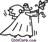 Vector Clip Art image  of an angel