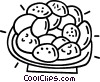 Vector Clip Art graphic  of a plate of cookies