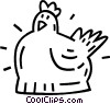 Vector Clip Art graphic  of a hen
