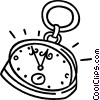 Vector Clipart illustration  of a pocket watch