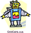 Vector Clip Art picture  of a robot