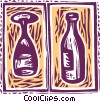Vector Clipart illustration  of a wine bottle