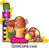 Vector Clipart graphic  of a Easter eggs