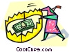 Dollars Vector Clipart illustration