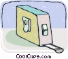 Vector Clipart graphic  of a measuring tape