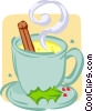 Vector Clip Art picture  of a cup of hot chocolate