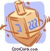 Vector Clip Art graphic  of a dreidels