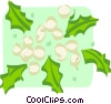 Vector Clip Art image  of a holly