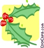 holly and ivy Vector Clipart illustration
