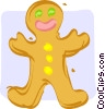 gingerbread man Vector Clip Art picture