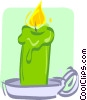 candle with holder Vector Clip Art image