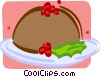 Vector Clip Art image  of a serving platters