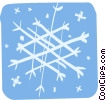 snowflakes Vector Clipart illustration