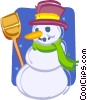 Vector Clipart picture  of a snowmen