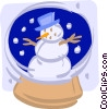 snowman in a snow globe Vector Clip Art picture