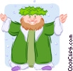 Vector Clipart graphic  of a father Christmas