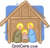 Christmas Nativity Scene Vector Clip Art image