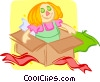 Vector Clipart graphic  of a toy doll