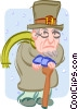 Vector Clipart graphic  of a scrooge