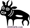 Vector Clip Art graphic  of a bull