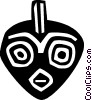 African tribal mask Vector Clipart illustration