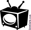 television set Vector Clipart picture