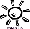 Vector Clip Art graphic  of a sunshine