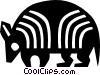 Vector Clip Art graphic  of an armadillo