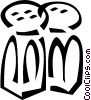 Vector Clip Art picture  of a salt and pepper