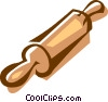 Vector Clipart graphic  of a rolling pin