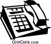 Vector Clipart graphic  of a office telephone