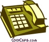 office telephone Vector Clipart illustration