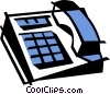 Vector Clip Art image  of a office telephone