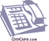 Vector Clipart image  of a office telephone