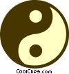 ying and yang Vector Clipart image