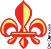 Vector Clip Art graphic  of a fleur-de-lis