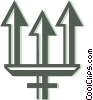 Vector Clip Art image  of a tridents