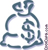 bag of money Vector Clip Art image